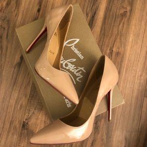 Red bottom Tan heels